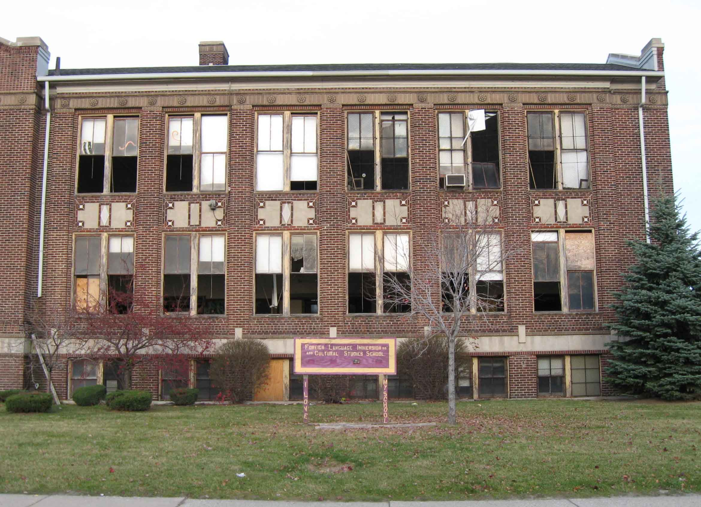 Detroit School Smashed up