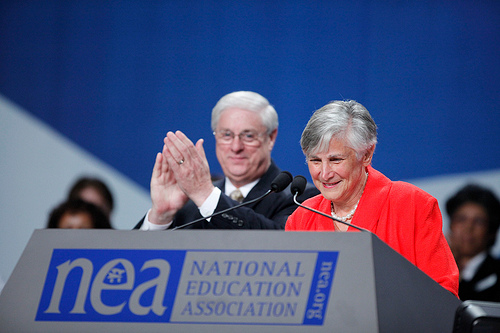 Dr. Diane Ravitch, Friend of Education Award recipient speaks to delegates during the 2010 NEA Annual Meeting and Representative Assembly.